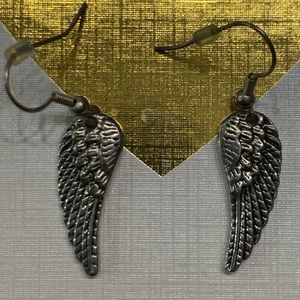 5 for $10 jewelry sale silver angel wing earrings